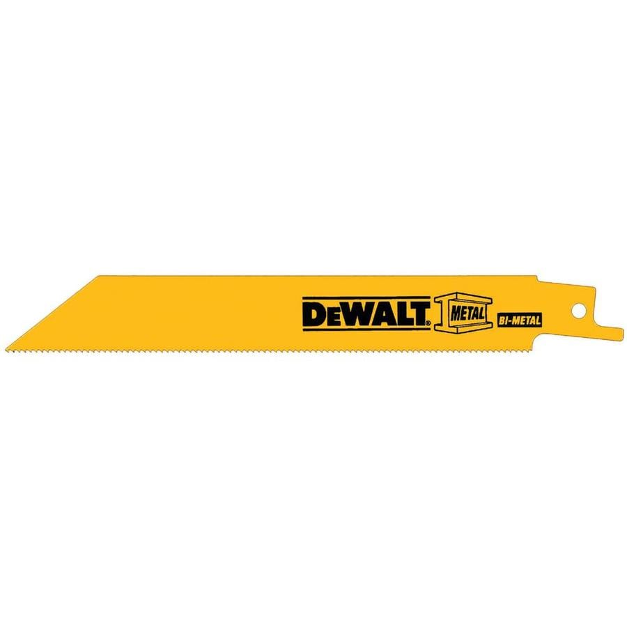 DEWALT 10-Pack 6-in 18-TPI Bi-Metal Reciprocating Saw Blades