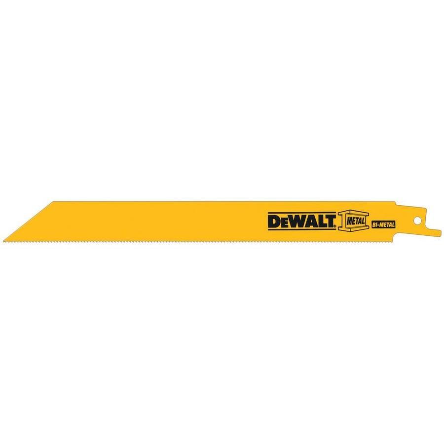 DEWALT 10-Pack 8-in 18-TPI Bi-Metal Reciprocating Saw Blades