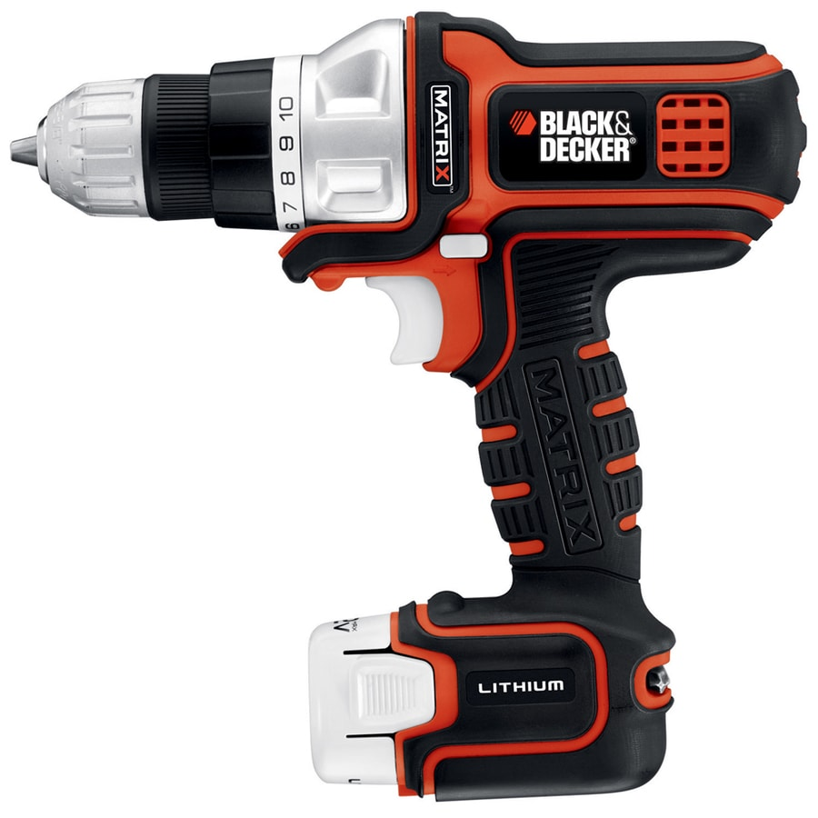 Black Decker 12 Volt Lithium Ion 3 8 In Cordless Drill With Battery