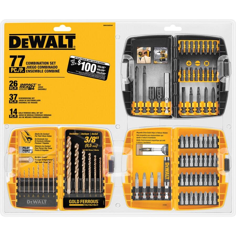DEWALT Dewalt 77-Piece Combination Drilling and Fastening Set