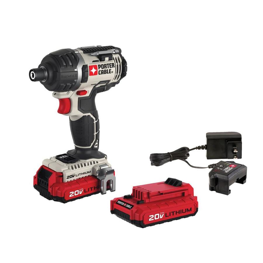 PORTER-CABLE 20-Volt Max Lithium Ion (Li-ion) 1/4-in Cordless Variable Speed Impact Driver with Soft Case