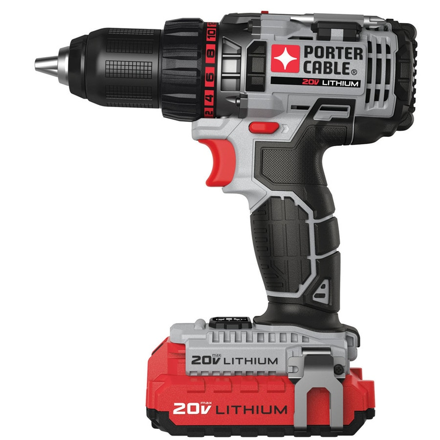 PORTER-CABLE 20-Volt Max Lithium Ion (Li-ion) 1/2-in Cordless Drill with Battery and Soft Case