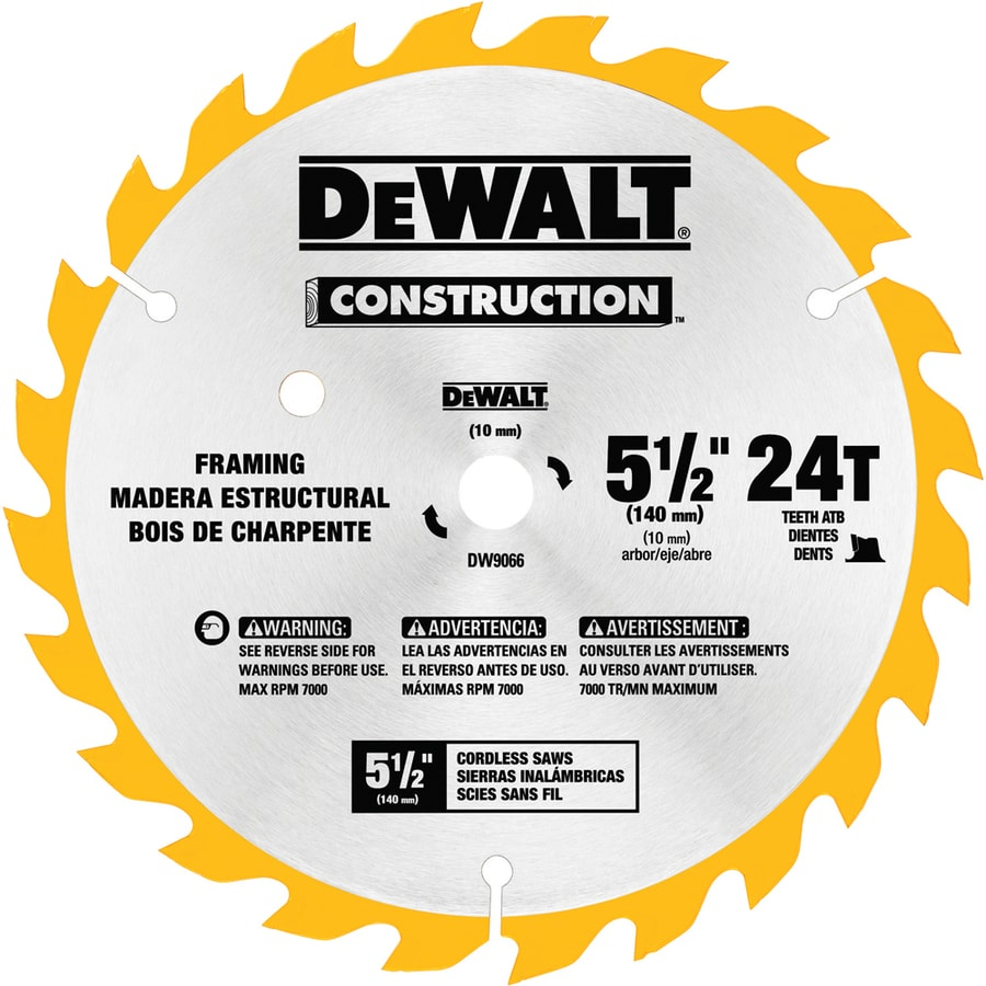 Shop dewalt construction 5 12 in 24 tooth carbide circular saw dewalt construction 5 12 in 24 tooth carbide circular saw blade keyboard keysfo Images
