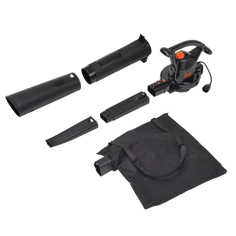 BLACK & DECKER 12-Amp 300-CFM 210-MPH Sweeper Corded Electric Leaf Blower