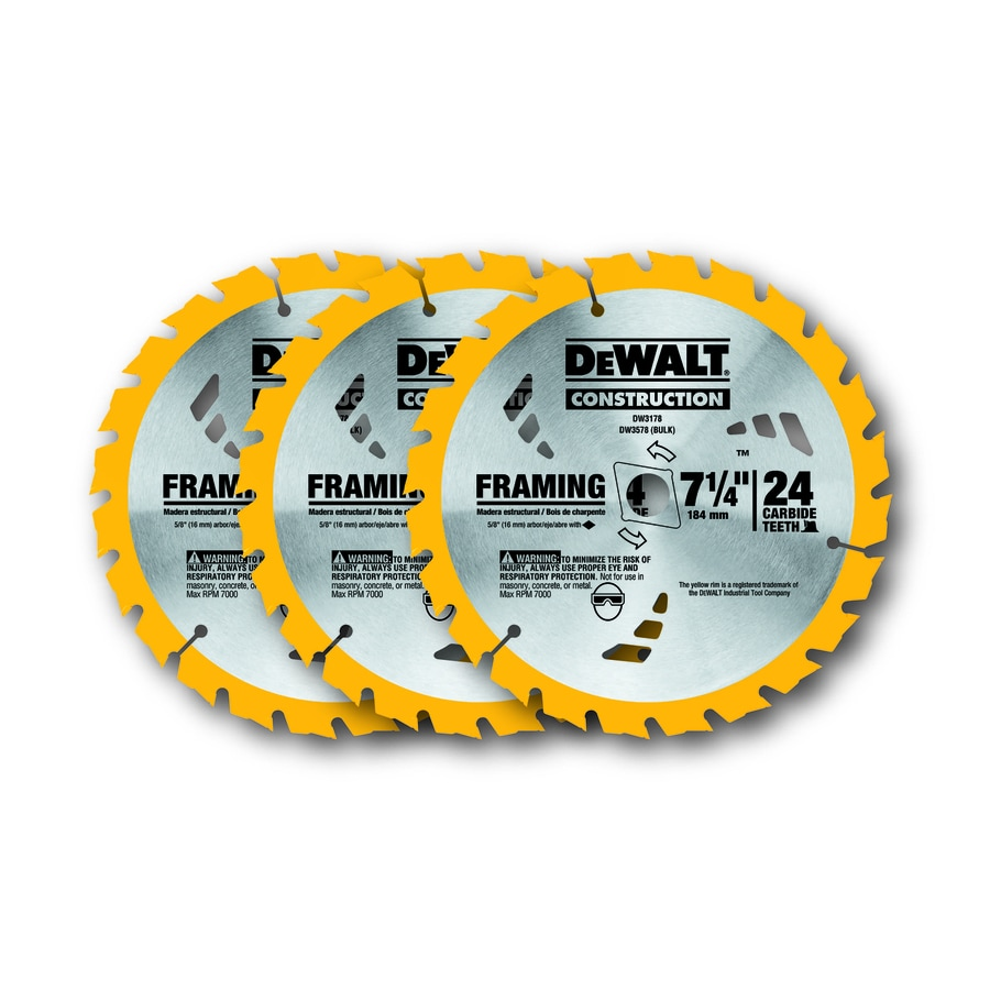 DEWALT 24T Framing Blade 3 Pack Circular Saw Blade Set