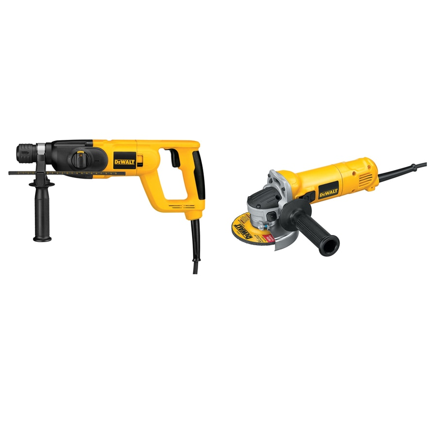 DEWALT 7/8-in 6.9-Amp Keyed Rotary Hammer with 4-1/2-in Grinder
