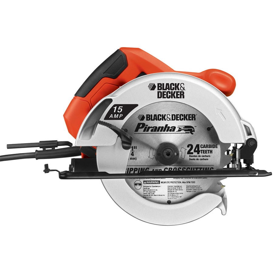 Shop black decker 15 amp 7 14 in corded circular saw at lowes black decker 15 amp 7 14 in corded circular saw greentooth Images