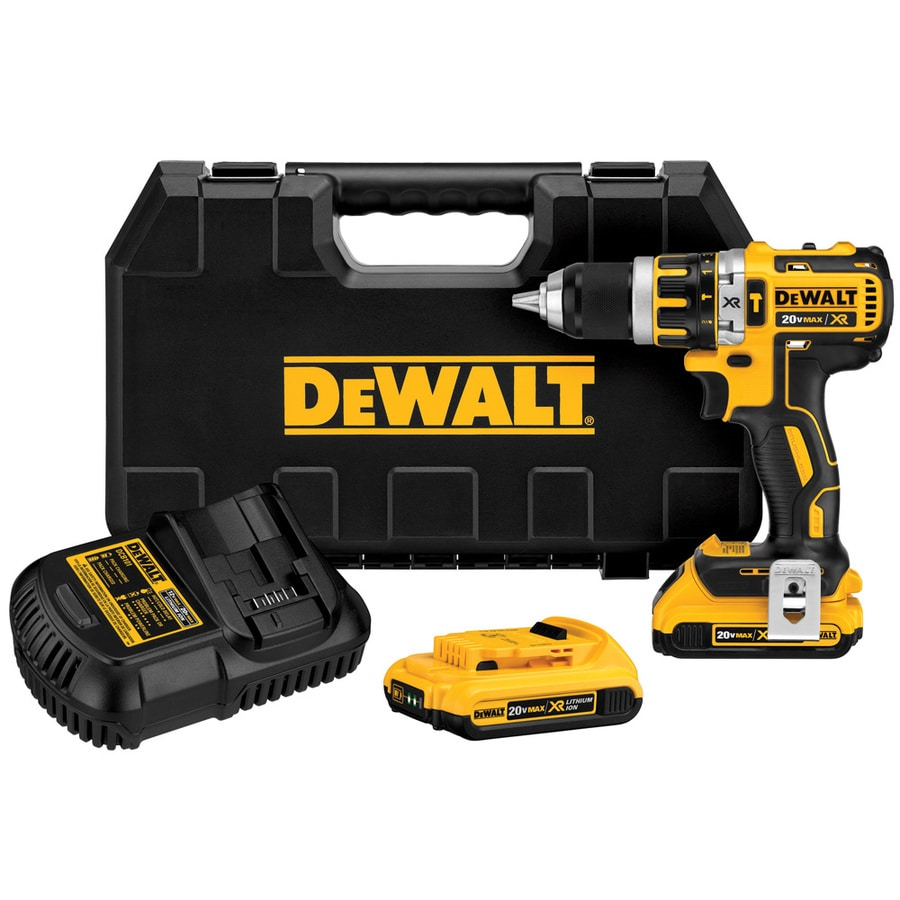 DEWALT 20-Volt Max Lithium Ion (Li-ion) Variable Speed Brushless Cordless Hammer Drill