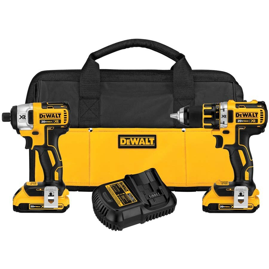 DEWALT 20-Volt Max Lithium Ion (Li-ion) Brushless Cordless Combo Kit with Soft Case
