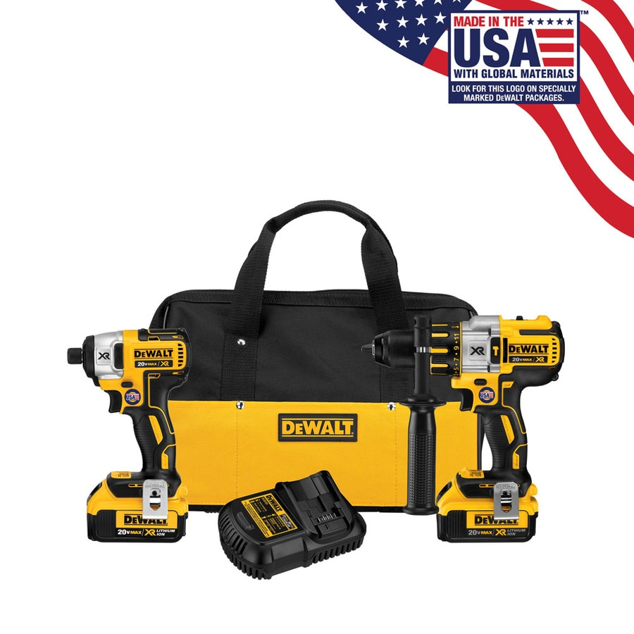 DEWALT 20-Volt Max Lithium Ion (Li-ion) Brushless Motor Cordless Combo Kit with Soft Case