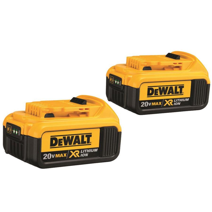 DEWALT 2-Pack 20-Volt Max 4-Amp-Hours Lithium Power Tool Battery Kit