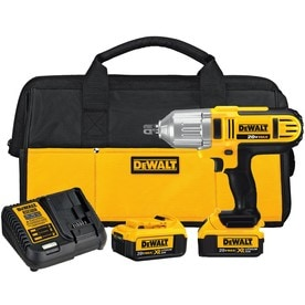 DEWALT XR 20-volt Max 1/2-in Drive Cordless Impact Wrench (2-Batteries Included)