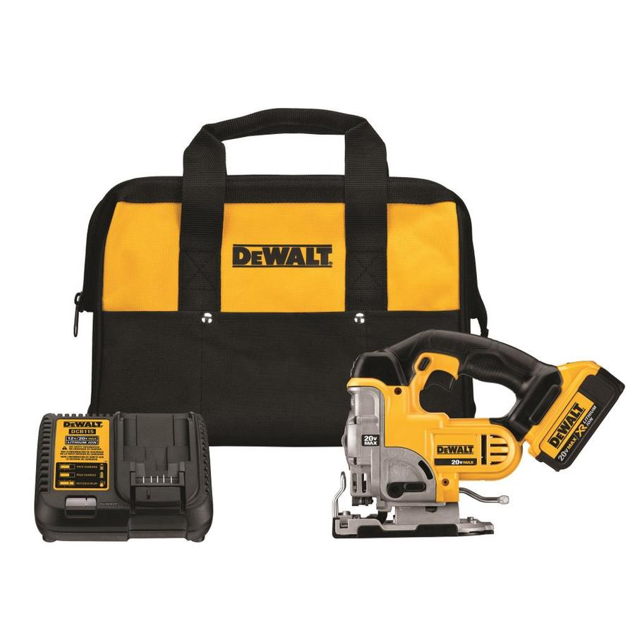Shop jigsaws at lowes dewalt 20 volt max variable speed keyless cordless jigsaw with battery keyboard keysfo Images