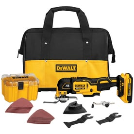 DEWALT XR 28-Piece Cordless Brushless-Amp 20-Volt Max Variable Speed Oscillating Multi-Tool Kit with Soft Case (1-Battery Included)