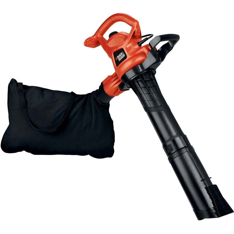 BLACK & DECKER 12-Amp 400-CFM 250-MPH Medium-Duty Corded Electric Leaf Blower with Vacuum Kit