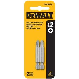 DEWALT 2-Piece 2-in Steel Hex Shank Screwdriver Bit