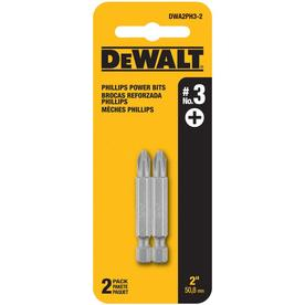 DEWALT 2-Piece 2-in #3 Set Steel Hex Shank Screwdriver Bit