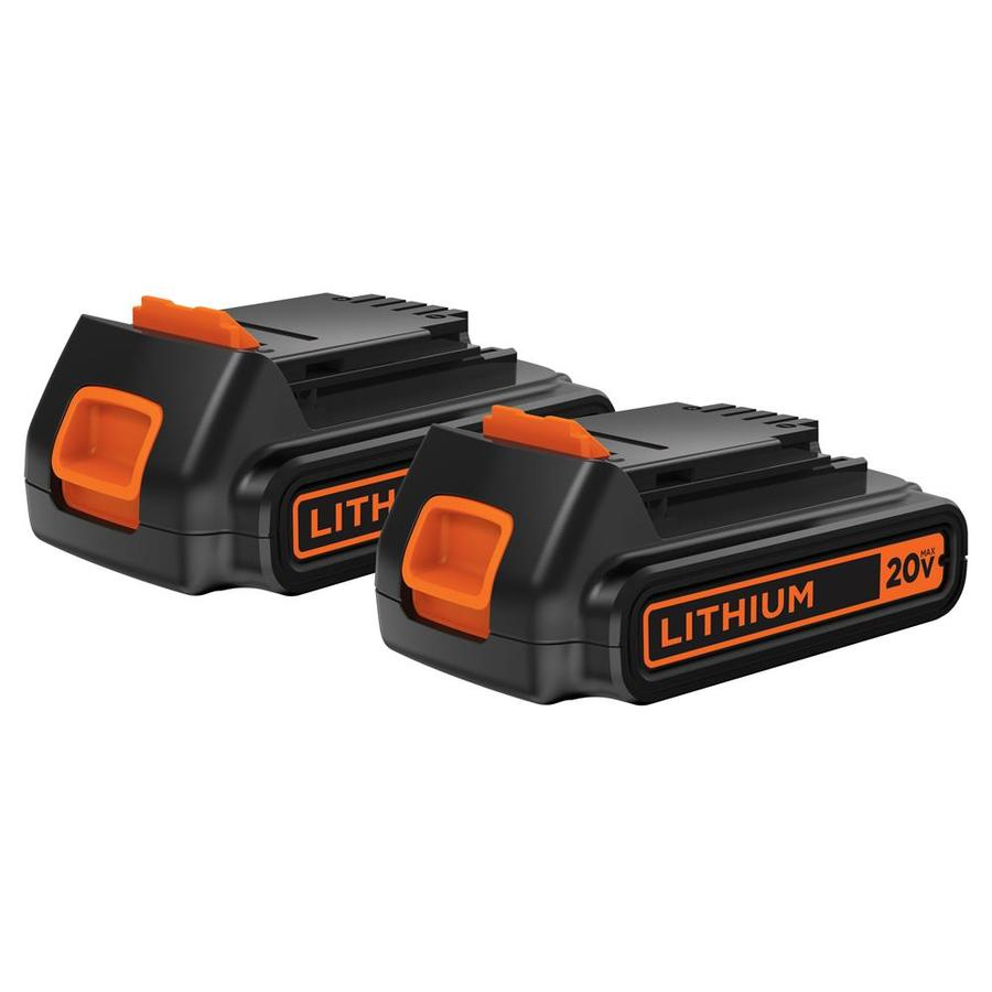 BLACK & DECKER 2-Pack 20-Volt Max 1.5-Amp Hours Lithium Power Tool Batteries