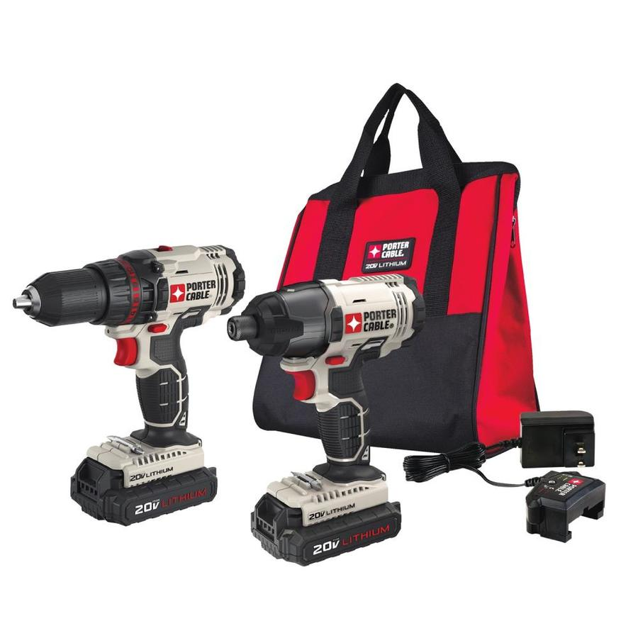 PORTER-CABLE 2-Tool 20-volt Max Lithium Ion Cordless Combo Kit