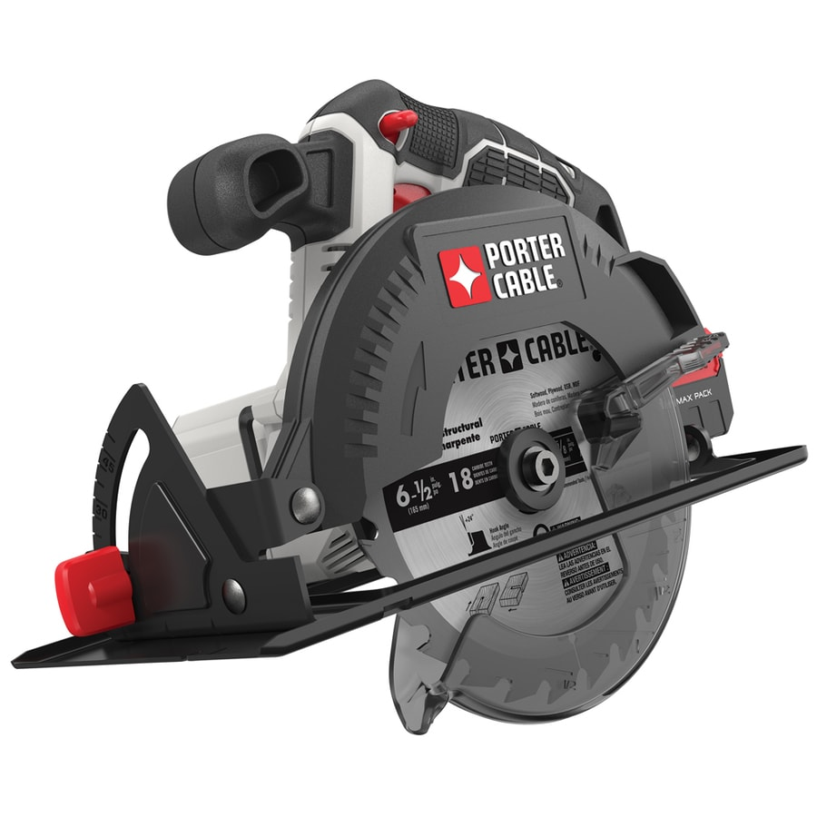 Shop circular saws at lowes porter cable 20 6 12 in cordless circular saw greentooth Image collections
