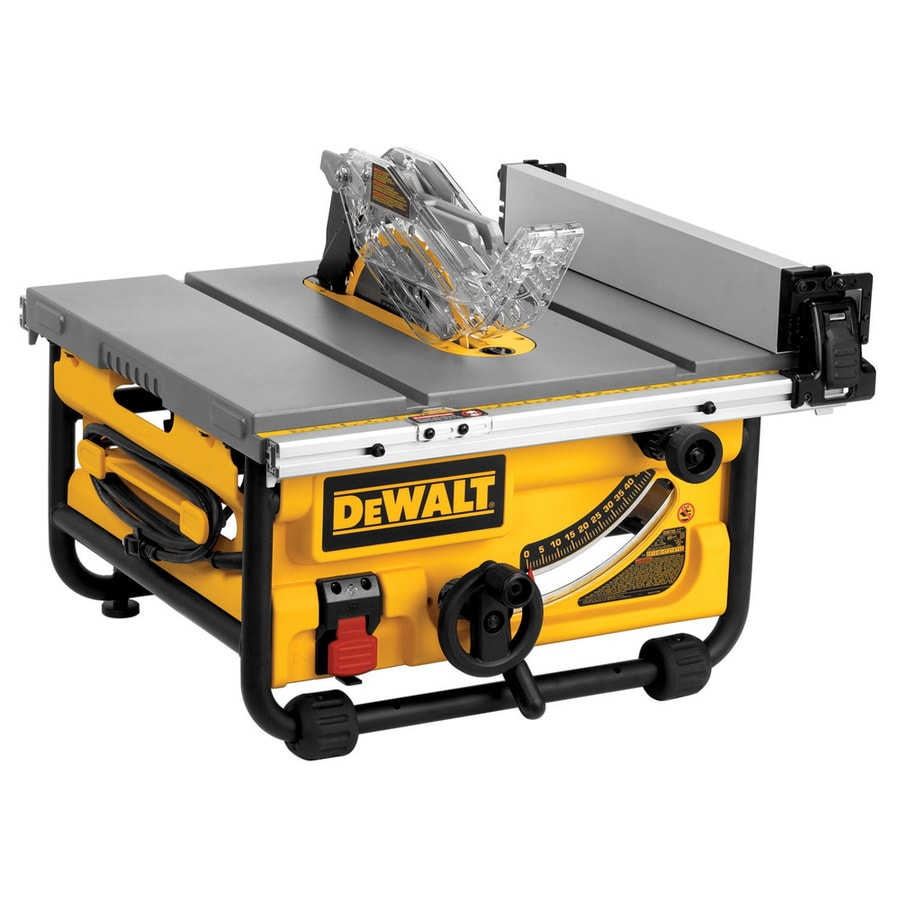 Shop dewalt 15 amp 10 in carbide tipped table saw at for 10 inch table saw blade reviews