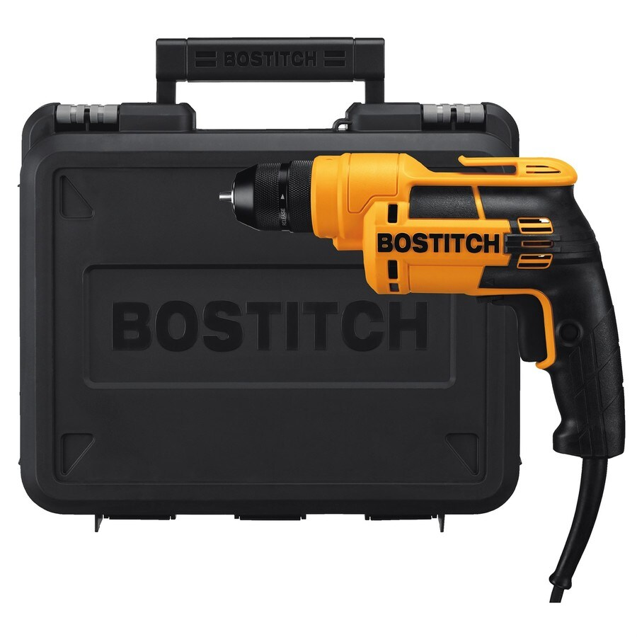 Bostitch 6.5-Amp 3/8-in Keyless Corded Drill with Case