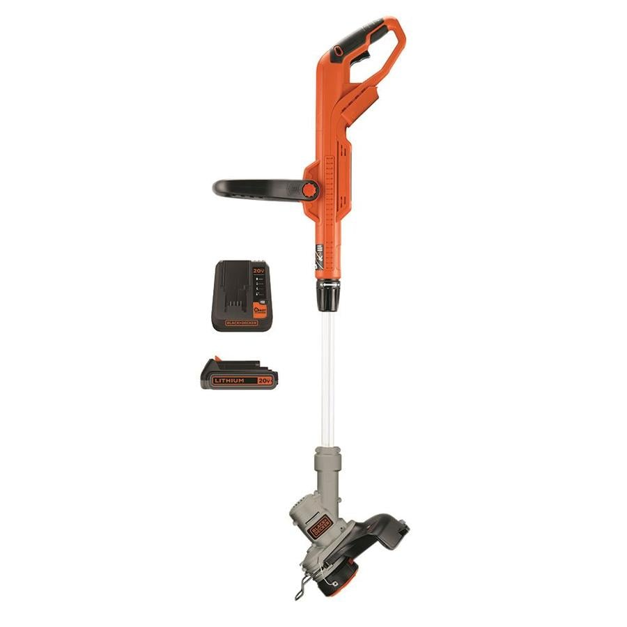 BLACK & DECKER 20-Volt Max 12-in Straight Cordless String Trimmer and Edger with Battery