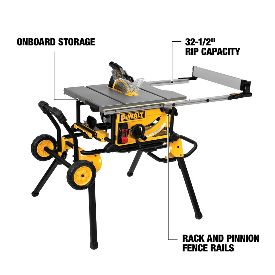 Shop table saws at lowes dewalt 10 in carbide tipped amp table saw greentooth Image collections