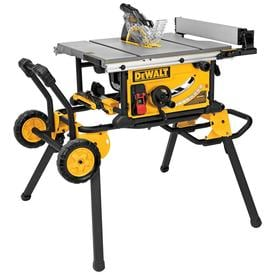 DEWALT 10-in Carbide-Tipped Blade 15-Amp Portable Table Saw