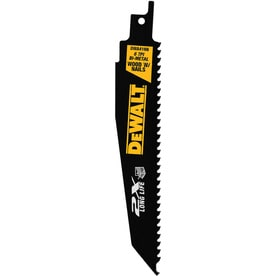 DEWALT 2X 6-in 6-TPI Wood/Nail Embedded Cutting Reciprocating Saw Blade