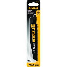 DEWALT 2X 5-Pack 6-in 10-TPI Reciprocating Saw Blade Set