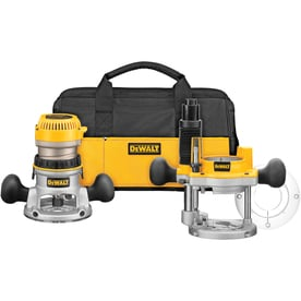 Shop routers at lowes dewalt 225 hp variable speed combo fixedplunge corded router greentooth Choice Image