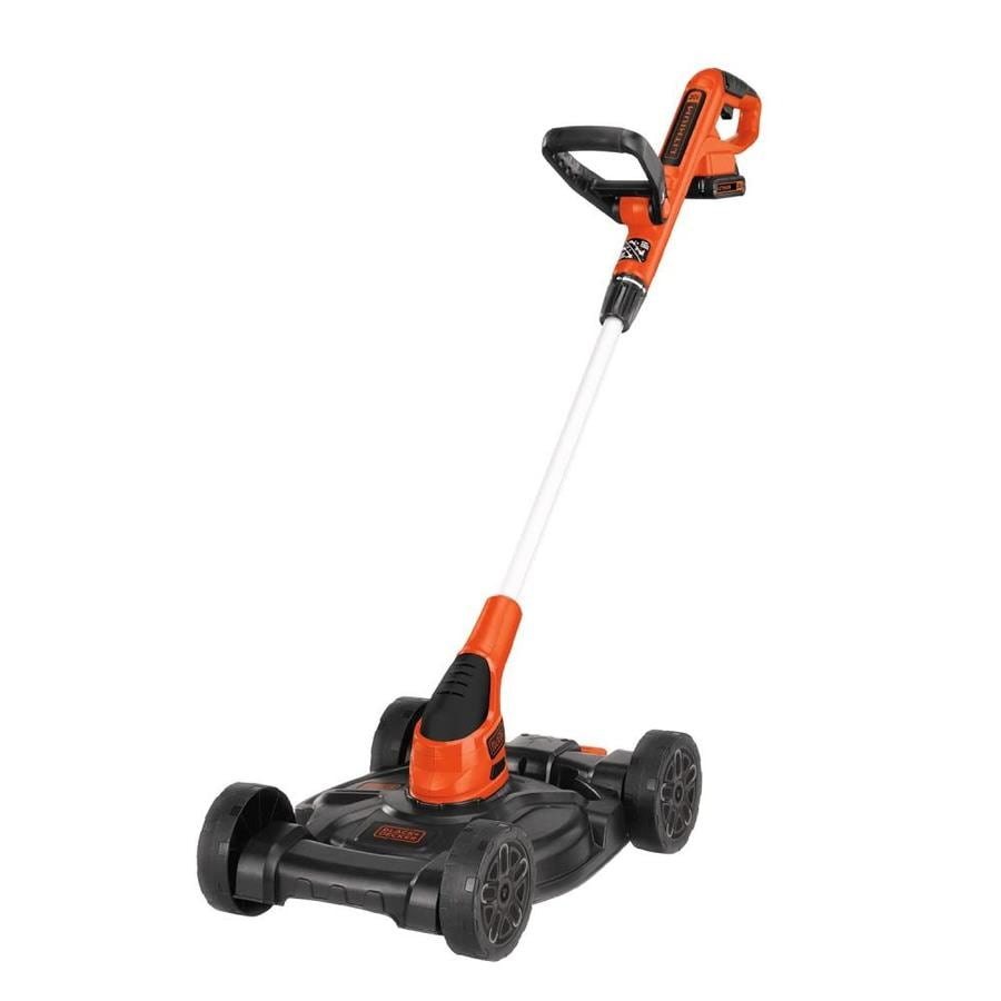 BLACK & DECKER 20-volt Max Lithium Ion 12-in Deck Width Cordless Electric Push Lawn Mower (Battery Included)