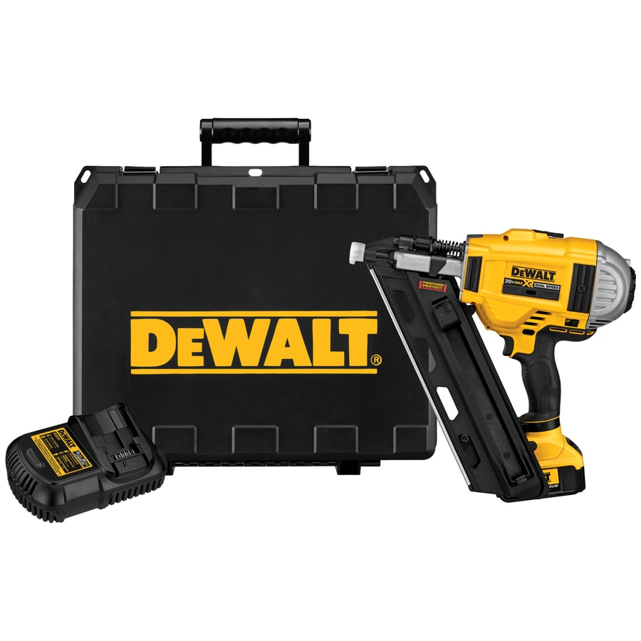 Shop DEWALT 20-Volt Cordless Nailer with Battery at Lowes.com