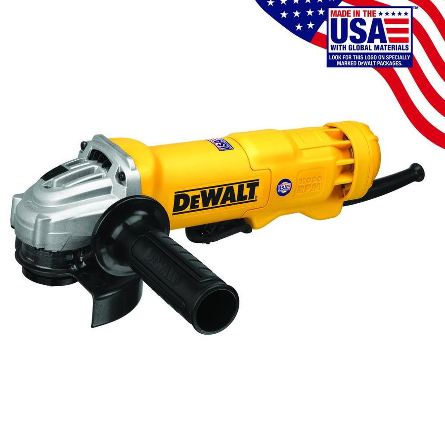 DEWALT 4-1/2-in 11-Amp Paddle Switch Corded Angle Grinder