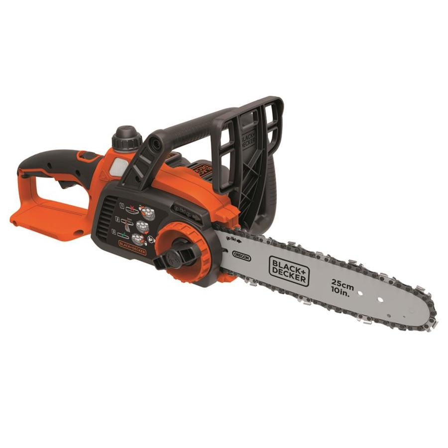 BLACK & DECKER 20-volt Max Lithium Ion 10-in Cordless Electric Chainsaw (Battery Included)