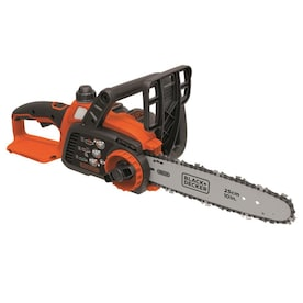 BLACK+DECKER 20-Volt Max Lithium Ion 10-in Cordless Electric Chainsaw (Battery Included)