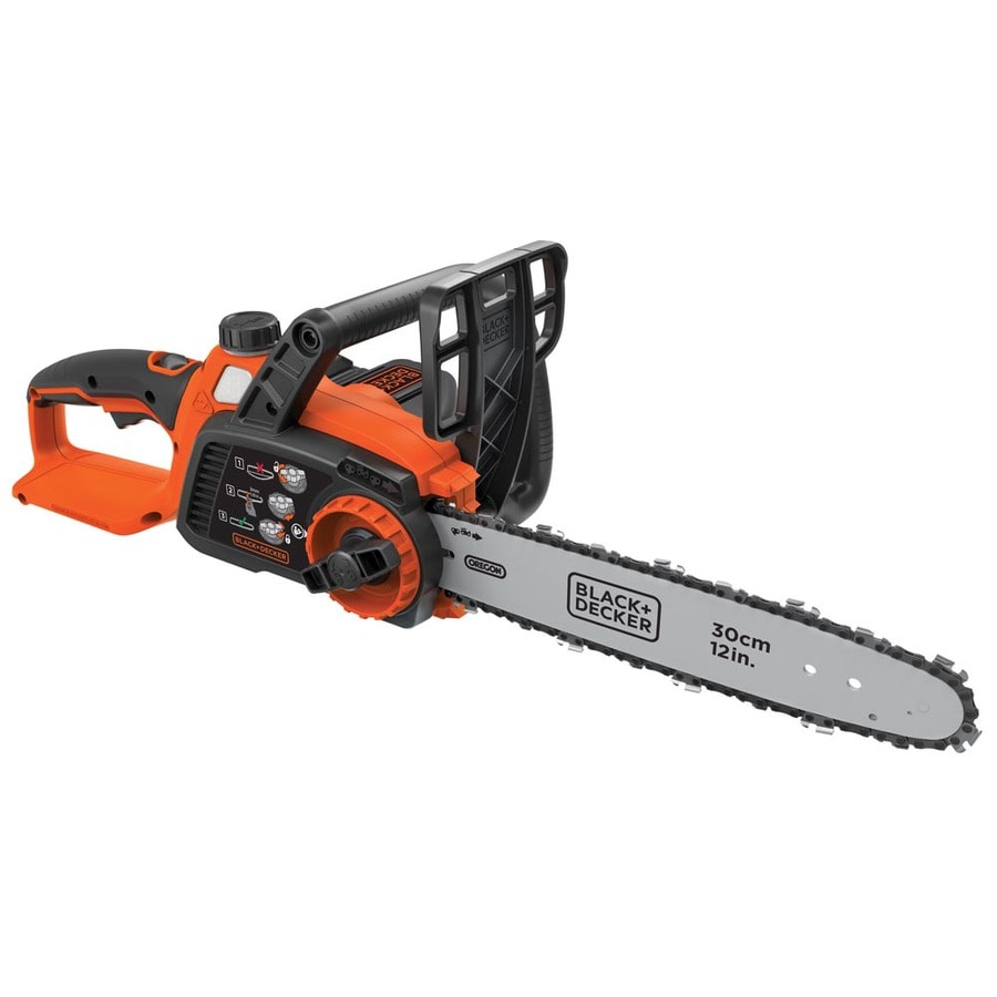 BLACK & DECKER 40-volt Max Lithium Ion 12-in Cordless Electric Chainsaw (Battery Included)