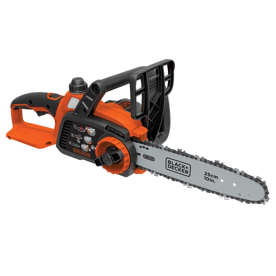 BLACK & DECKER 20-Volt Max-Volt Lithium Ion (Li-ion) 10-in Cordless Electric Chainsaw Bare Tool Only (Tool Only, Battery)