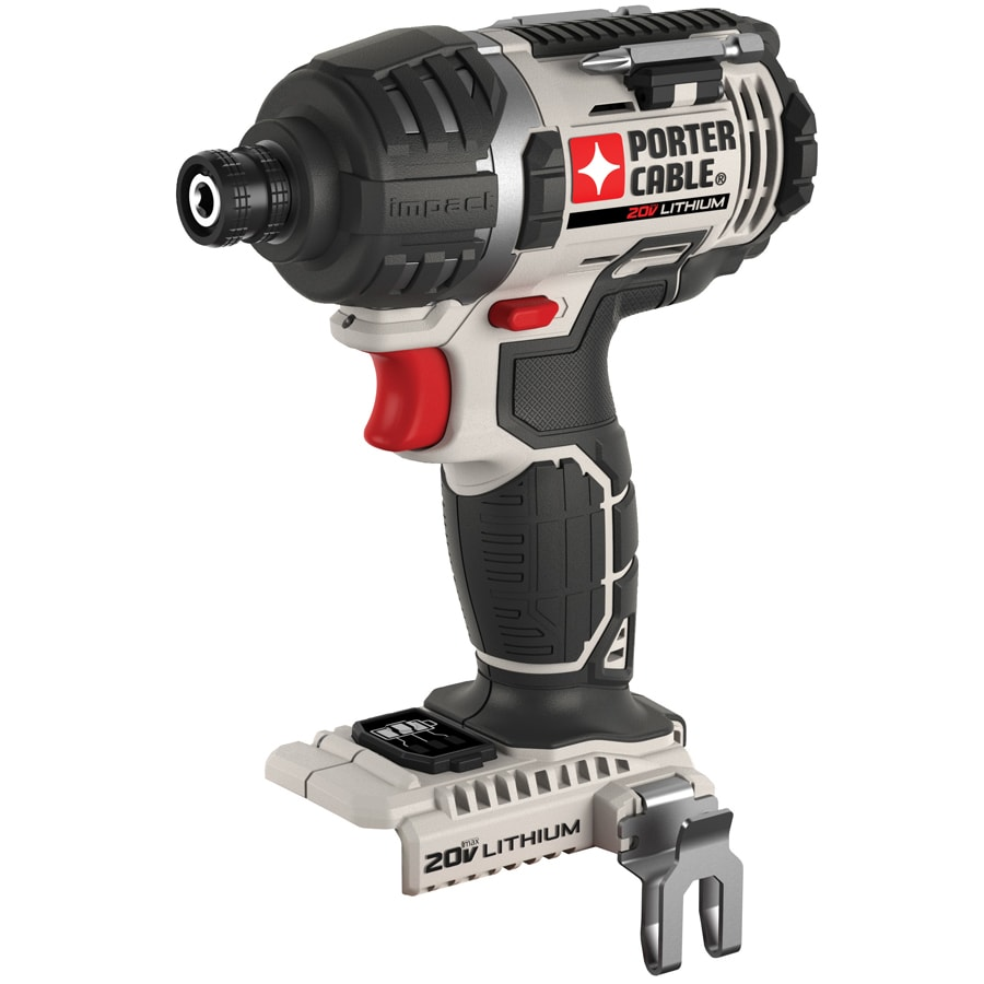 PORTER-CABLE 20-Volt Max-Volt Lithium Ion (Li-ion) 1/4-in Cordless Variable Speed Impact Driver