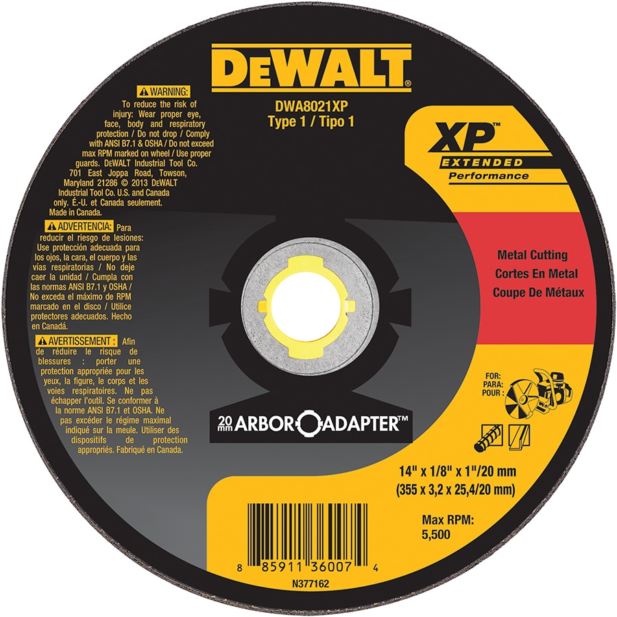 DEWALT Aluminum Oxide 14-in Cutting Wheel
