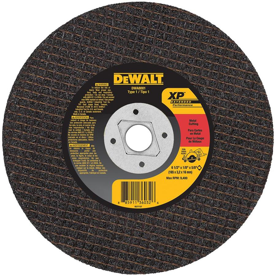 DEWALT 6-1/2-in 0-Tooth Dry Turbo High-Performance Aluminum Oxide Circular Saw Blade