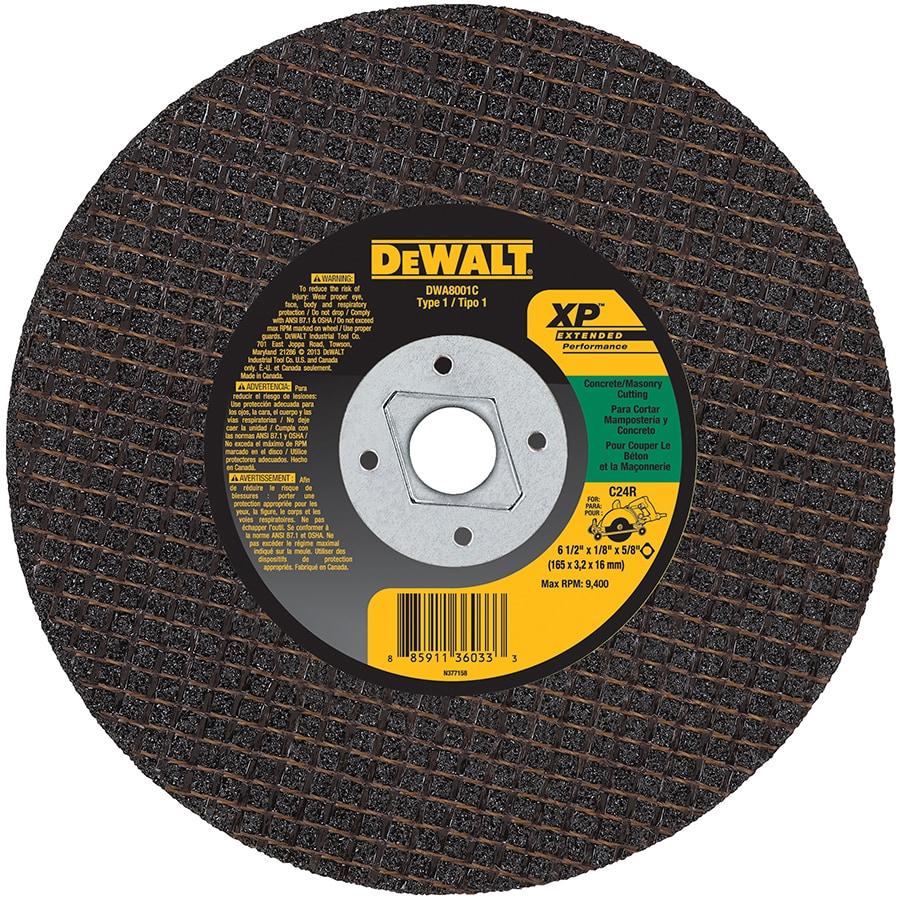 DEWALT 6-1/2-in Dry Turbo High-Performance Aluminum Oxide Circular Saw Blade