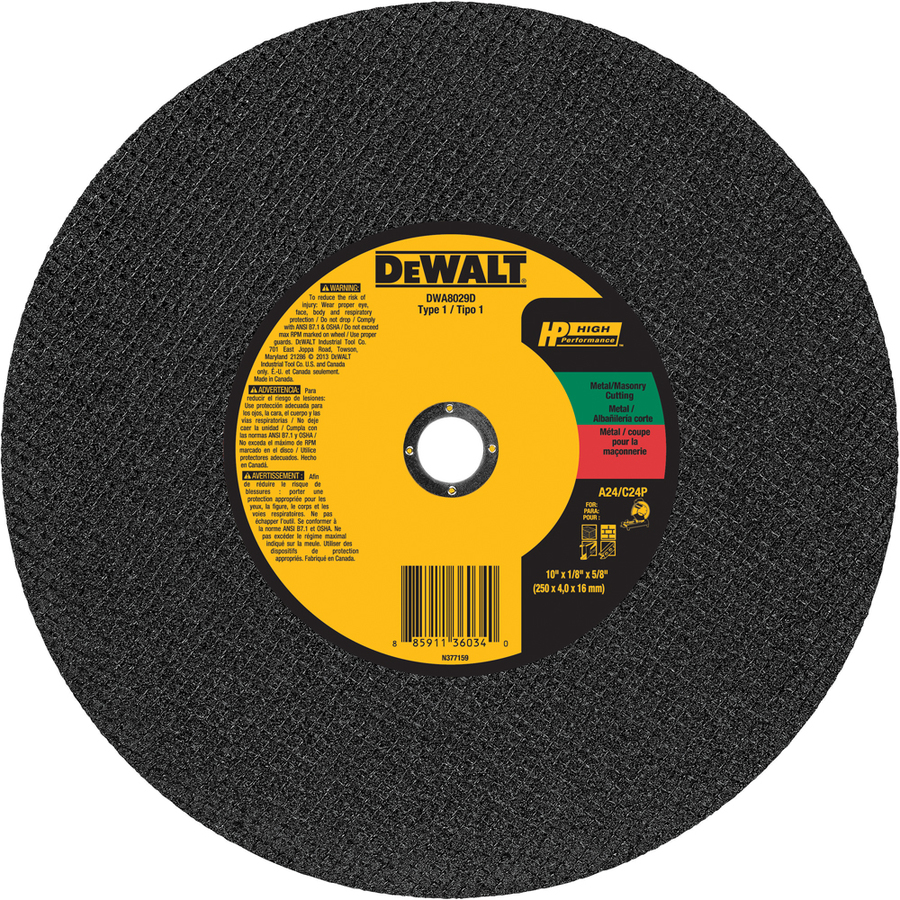 DEWALT 10-in Turbo High-Performance Aluminum Oxide Circular Saw Blade