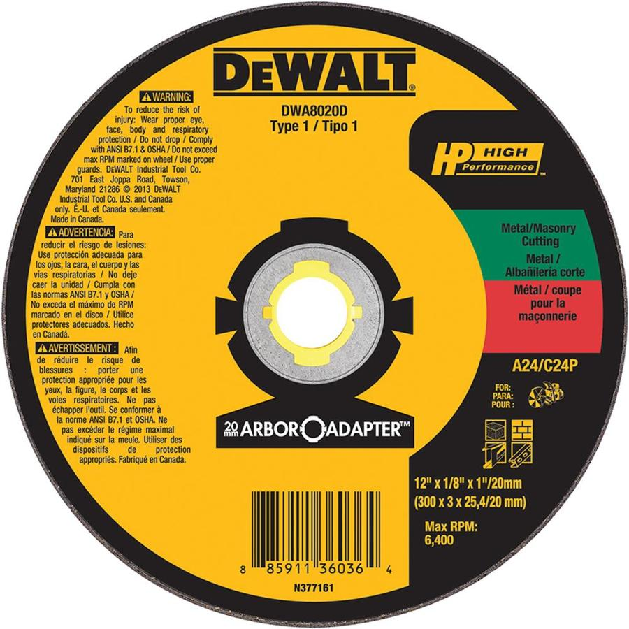 DEWALT Aluminum Oxide 12-in Cutting Wheel