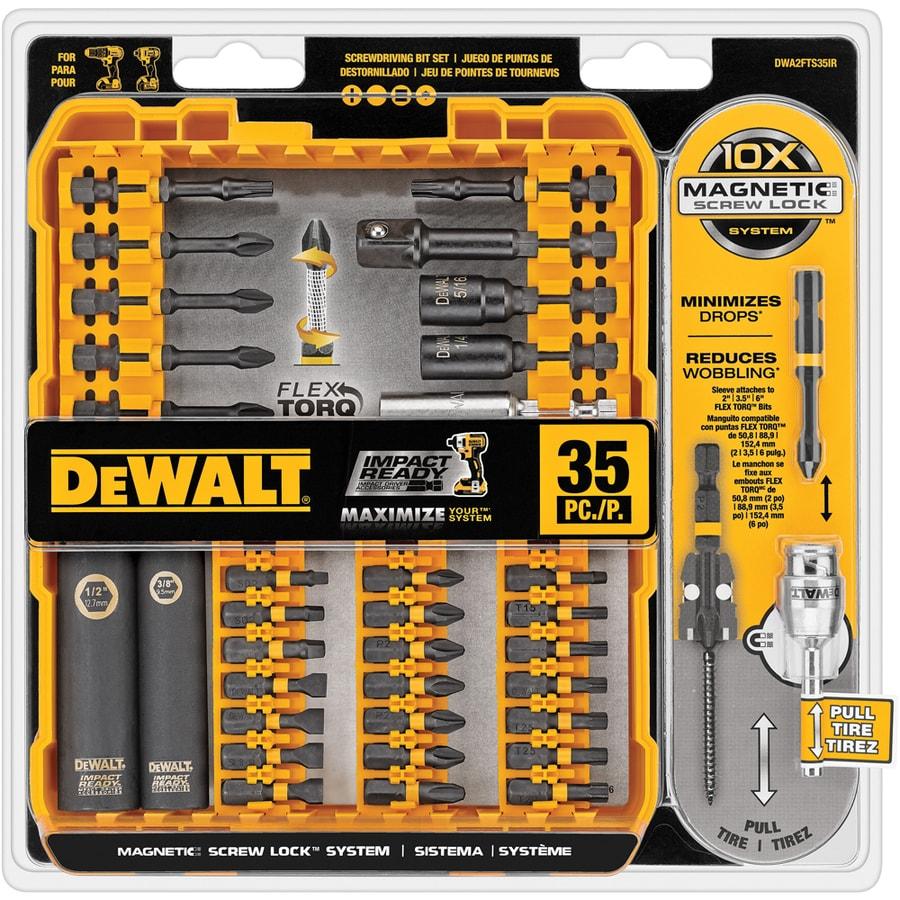 Shop Dewalt 35 Piece Flextorq Impact Driver Bit Set At