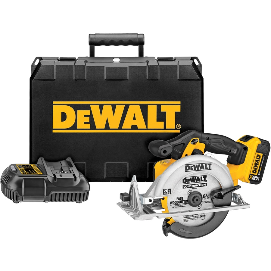 DEWALT Xr 20-Volt Max 6-1/2-in Cordless Circular Saw (Battery Included)