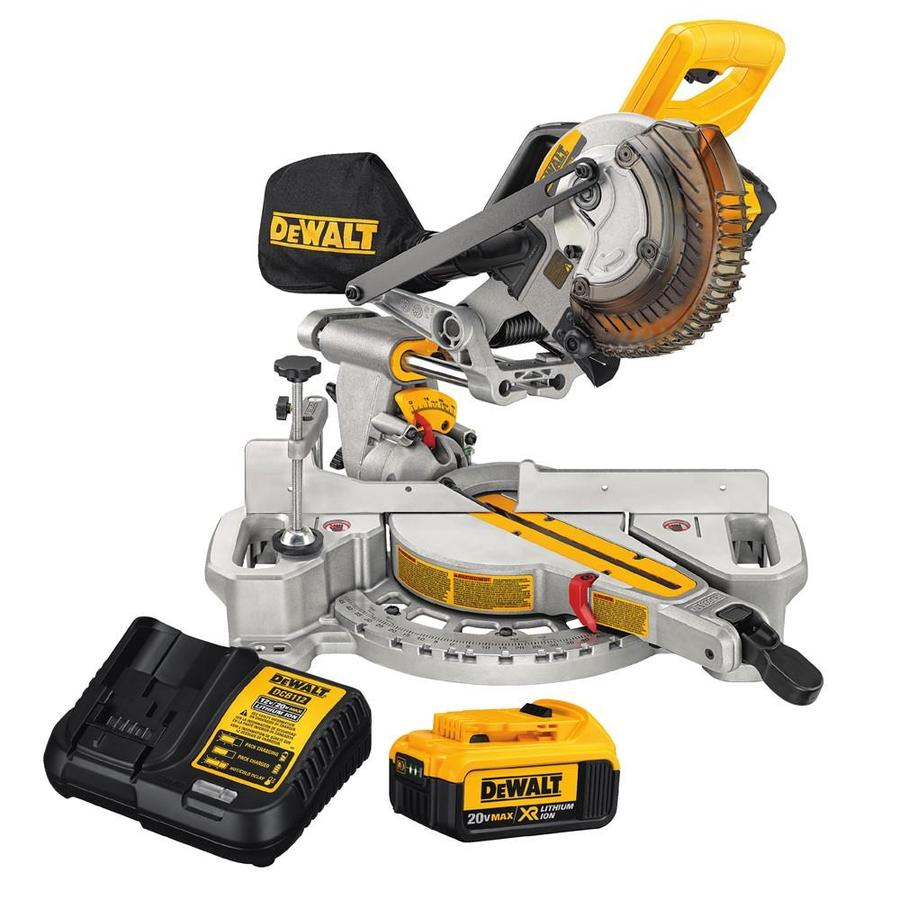 DEWALT 7-1/4-In-in Single Bevel Sliding Compound Miter Saw