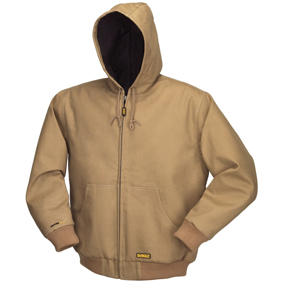 DEWALT Small Khaki Lithium Ion (Li-Ion) Heated Jacket