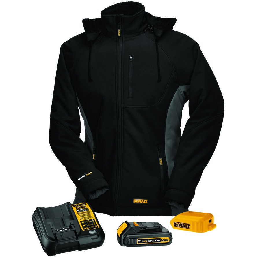 DEWALT Large Black Lithium Ion (Li-ion) Heated Jacket